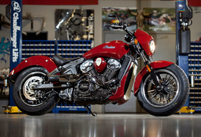Indian, Scout, DBC, 2016, classic, bikes, red, мотоцикл