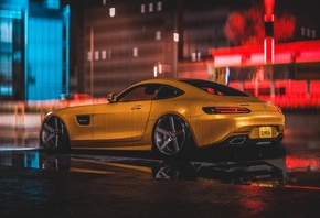 Mercedes, Amg, Yellow