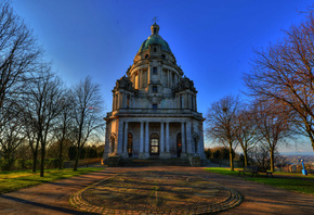 парк, Англия, весна, England, Williamson Park, Ashton Memorial