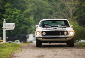 1969, Ford, Mustang, Mach I 428 Cobra Jet, front view