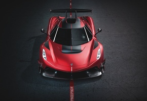 Koenigsegg, Jesko, 1600, Cherry, Red, Edition, Vorne