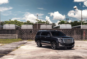 Cadillac Escalade, tuning, 2019 cars, SUVs, Vossen Wheels, HF6-2, 2019 Cadi ...