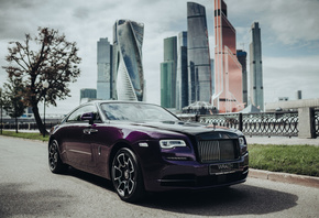 Rolls Royce, Wraith, Black, And, Bright