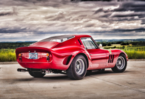 Ferrari, 250, GTO, retro, HDR, 1963, cars, back view, supercar
