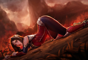 Девушка, Irelia, League of Legends, video game girls