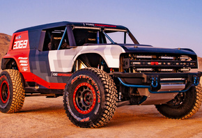 Ford Bronco R Race Prototype, Ford, Race car, Ford Bronco, пустыня, песок