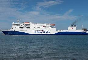 Море, Корабль, Brittany Ferries, MV Baie de Seine, Сбоку