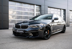BMW, M5, F90, black sedan, G-Power