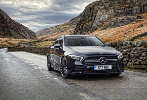 Mercedes-AMG A 35 Sedan, 4k, V177, 2019 cars, UK-spec, Mercedes-Benz A-class Sedan, german cars, Mercedes