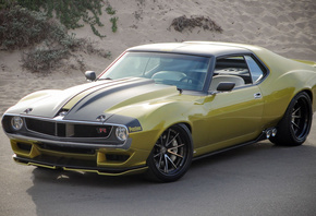 1972, AMC, Javelin, Ringbrothers, cars, golden, sports coupe, tuning