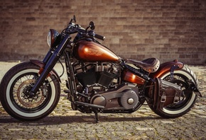 Thunderbike, Copper, Penny, bobber, custom