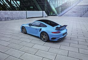 Porsche, 911, Turbo, TechArt, Hellblau, Coupe