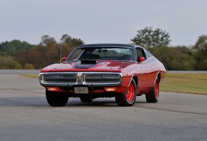 1971, Dodge, Hemi, Charger, Rt, Pilot, Car, Red, Muscle, Classic, Old