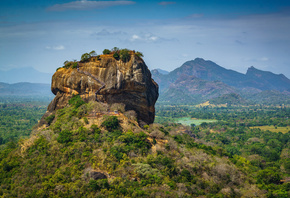 Горы, Шри-Ланка, Sigiriya, Pidurangala, Matale District, Скала, Природа