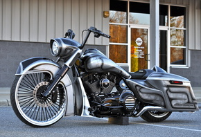 Harley-Davidson, Road King, Custom, мотоцикл, аэрография