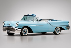 oldsmobile, golden, rocket, convertible, 1957