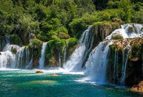 Хорватия, Парк, Водопады, Krka, National Park, Скала, Природа