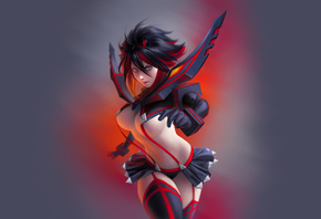 Kill La Kill, anime girl, matoi ryuko