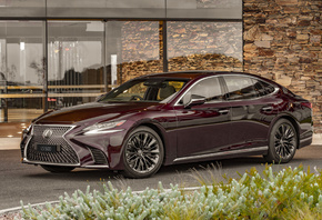 Lexus, 2019-20, LS 500, Inspiration Series, Бордовый