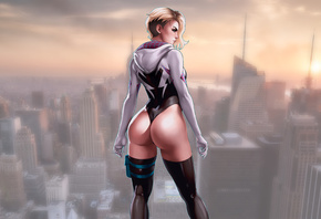 Gwen Stacy, Spider Gwen, Comic, Girls, superheroines, Marvel, Comics