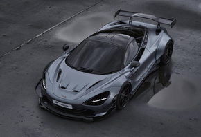 McLaren, 720S, Prior Design, aerodynamic body kit, tuning, 720S, gray, sports coupe, supercars