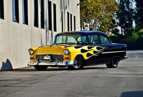 chevrolet, bel air, 1955, custom