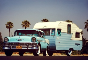 chevrolet, nomad, 1956, trailer
