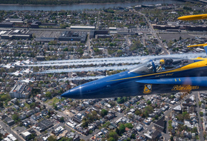Blue Angels, McDonnell Douglas FA-18 Hornet, flight demonstration squadron, United States Navy, FA-18