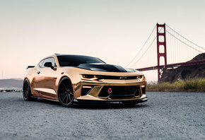 Gold, Camaro, Chrome