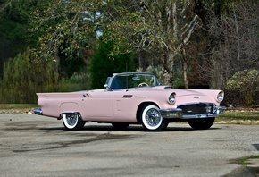 ford, thunderbird, convertible, 1957