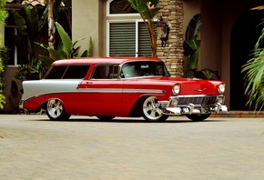 american, classic, car, chevrolet, nomad