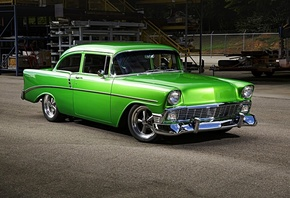 chevrolet, bel air, 1956, custom