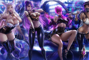league of legends, girls, game, sexi, women, blonde, brunette, bra, miniskirt, leggings, stockings, glasses, colors, diamond, animal, perfect