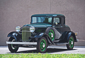 Ford, Model B, Coupe, 4k, 1932, retro, cars