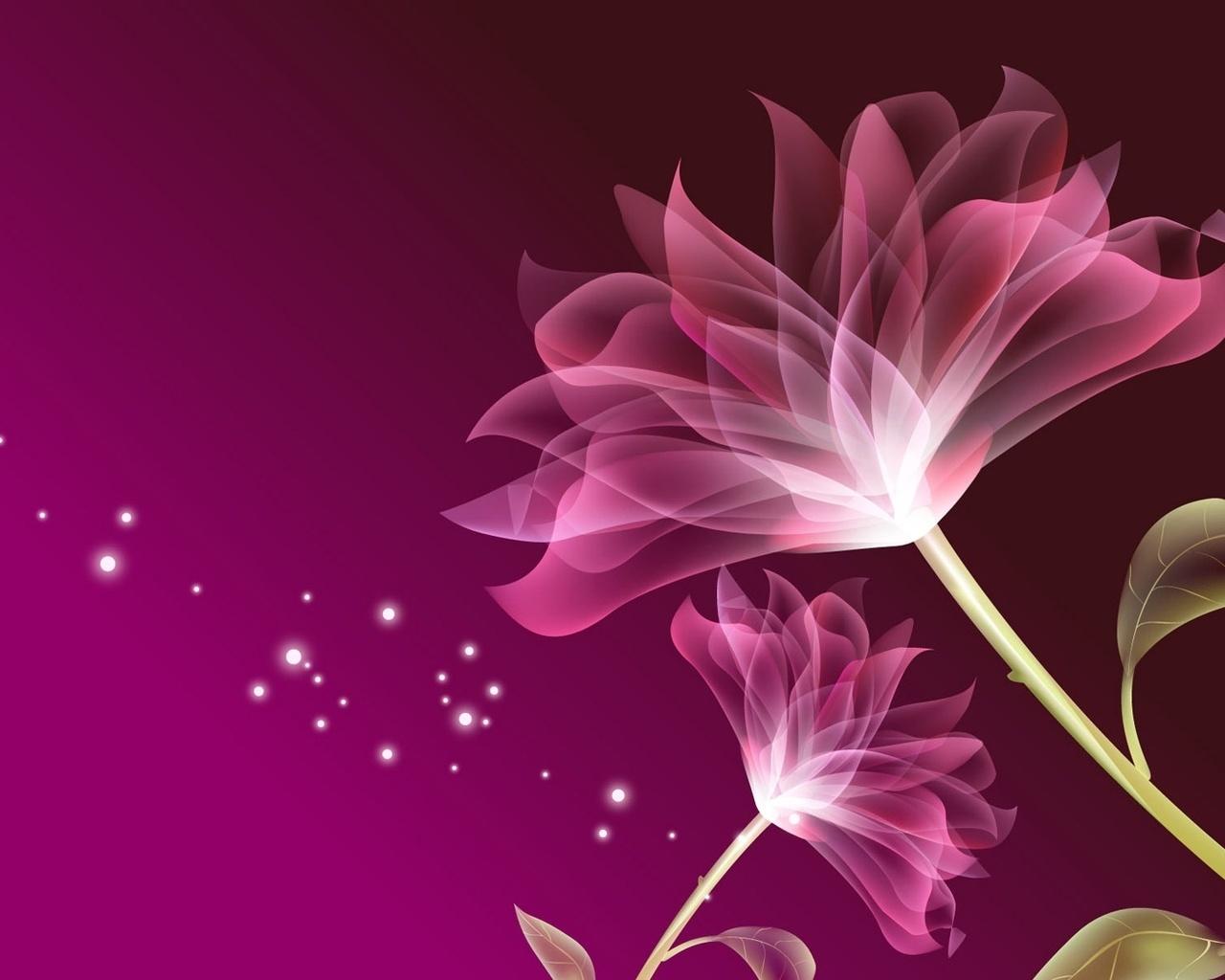 нежные лепестки, сиреневые цветы, листочки