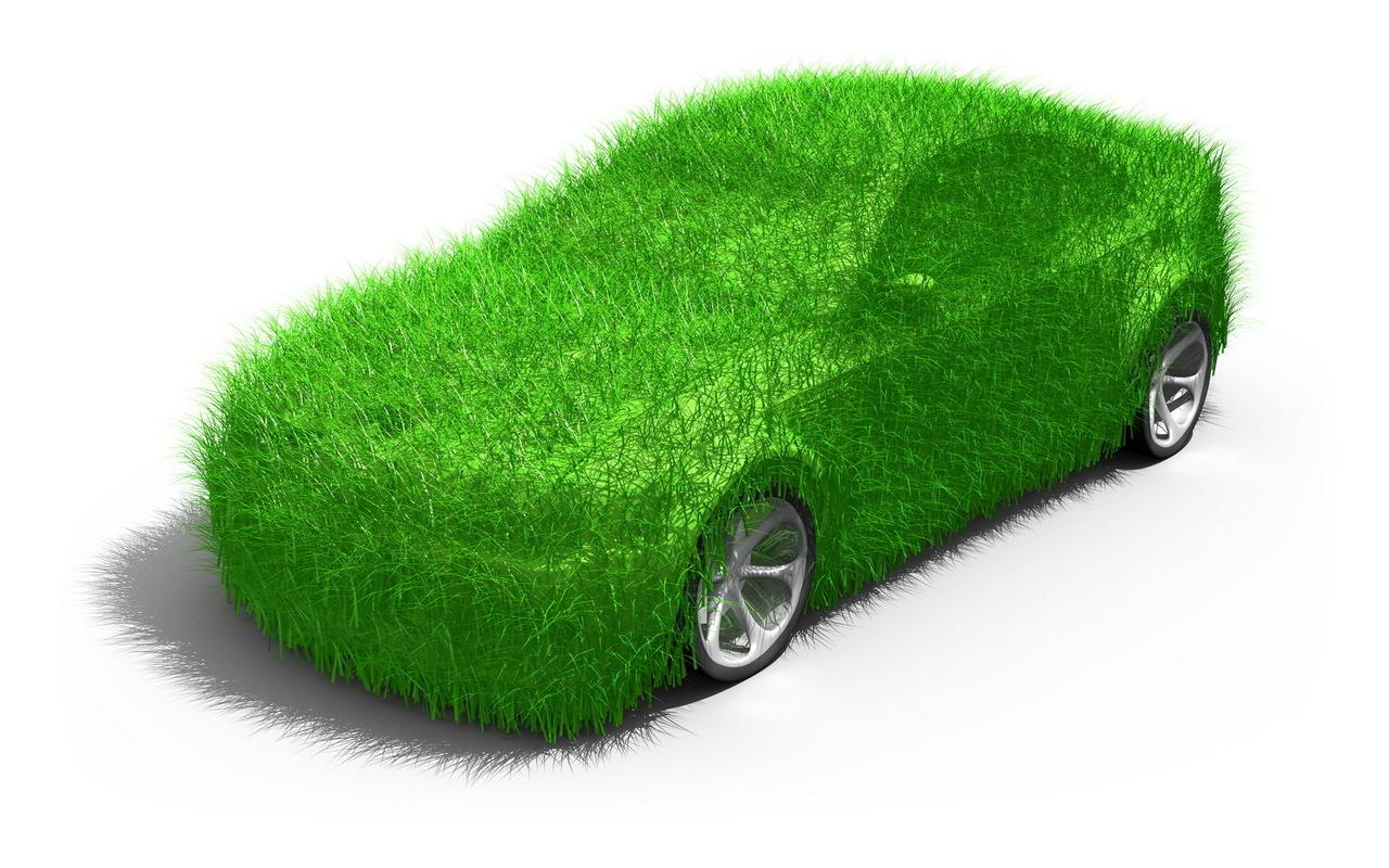 машина, модерн, зелень, трава