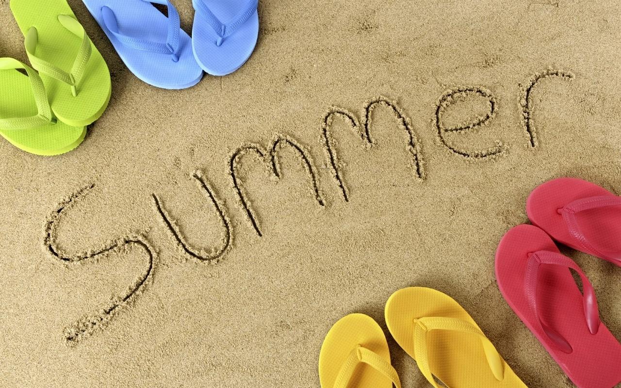 лето, вьетнамки, песок