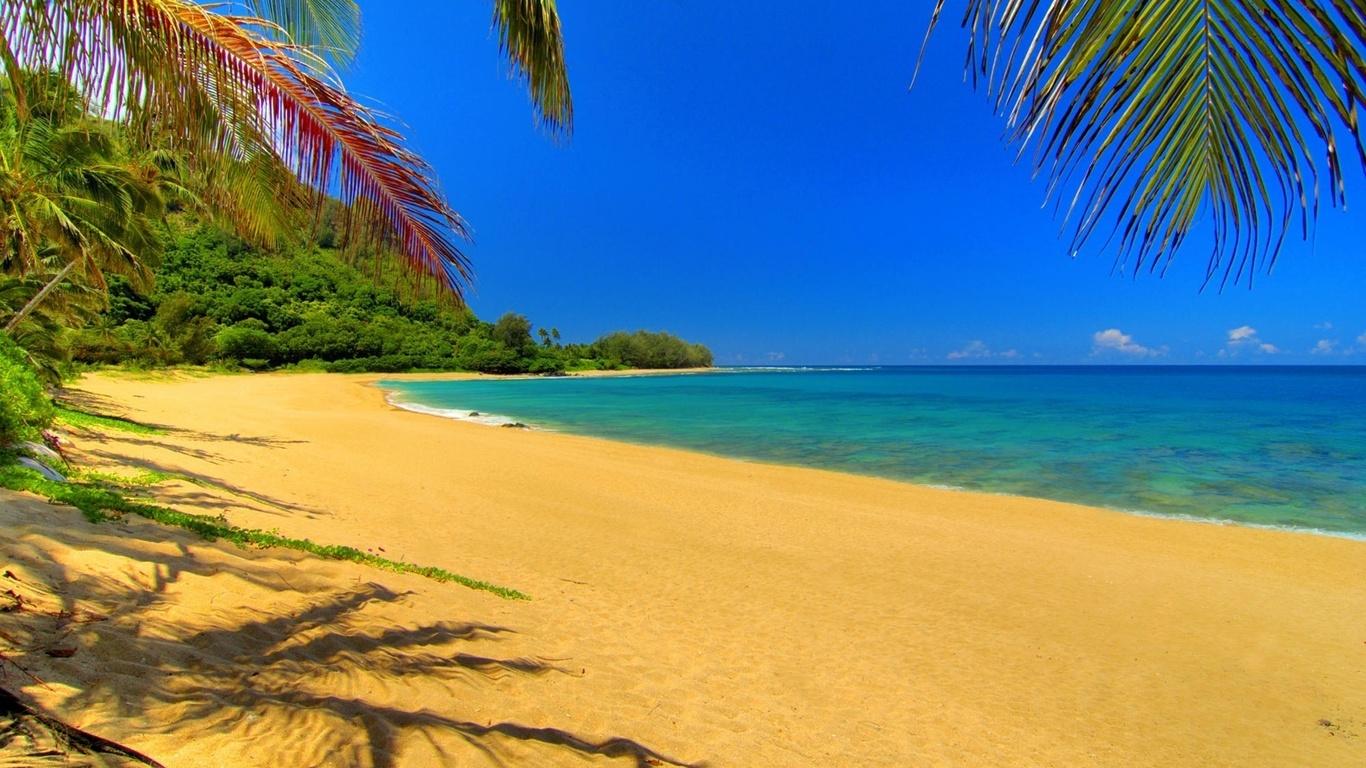 горячий песок, жара, море