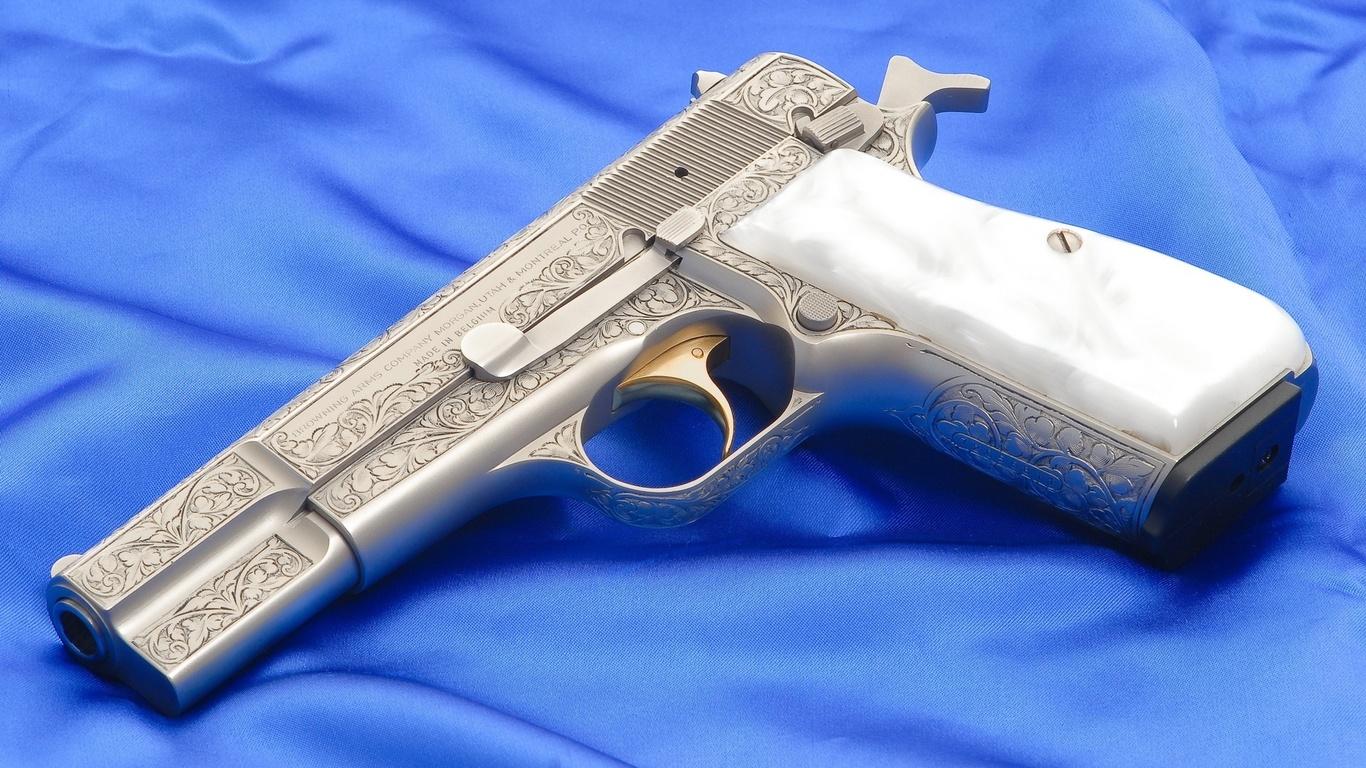 инкрустированный браунинг, browning, пистолет из бельгии