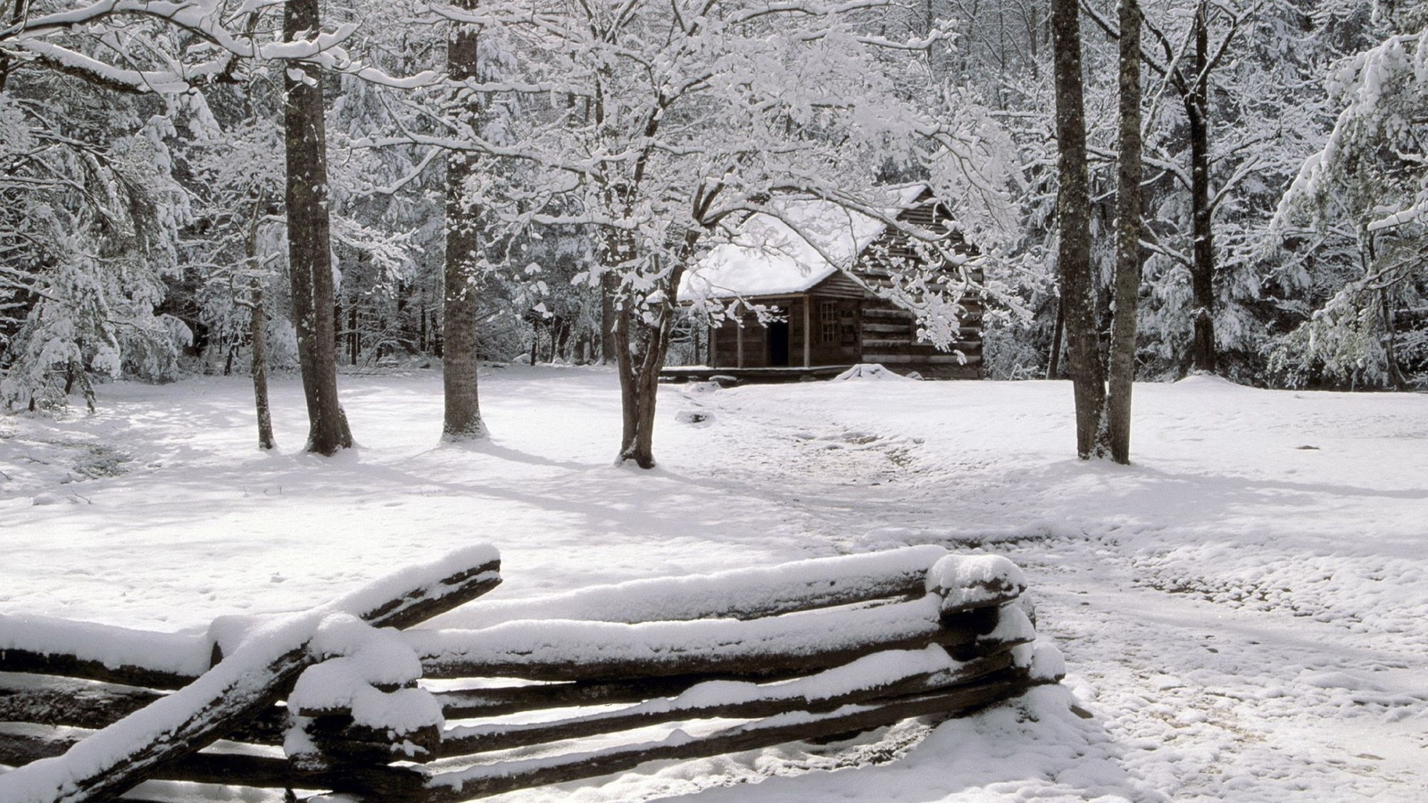 снег, домик на опушке, снег вокруг, зима, снег, горы, голубой, синий, лес, деревья, природа, берег, атмосфера, ель, елка, зима, снег, горы, голубой, синий, лес, деревья, природа, берег, атмосфера, ель, елка