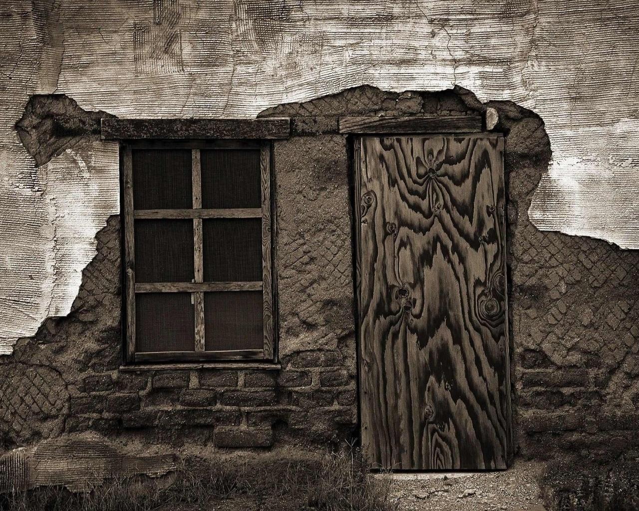 разное, старый дом, ветхая стена, окно, дверь, retro wallpapers