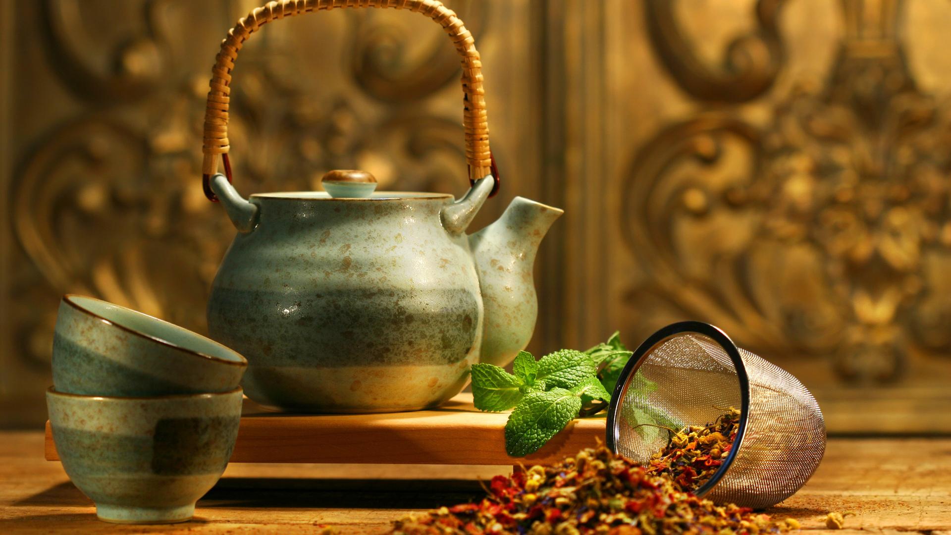asian tea, чайник, мята, аромат, добавки