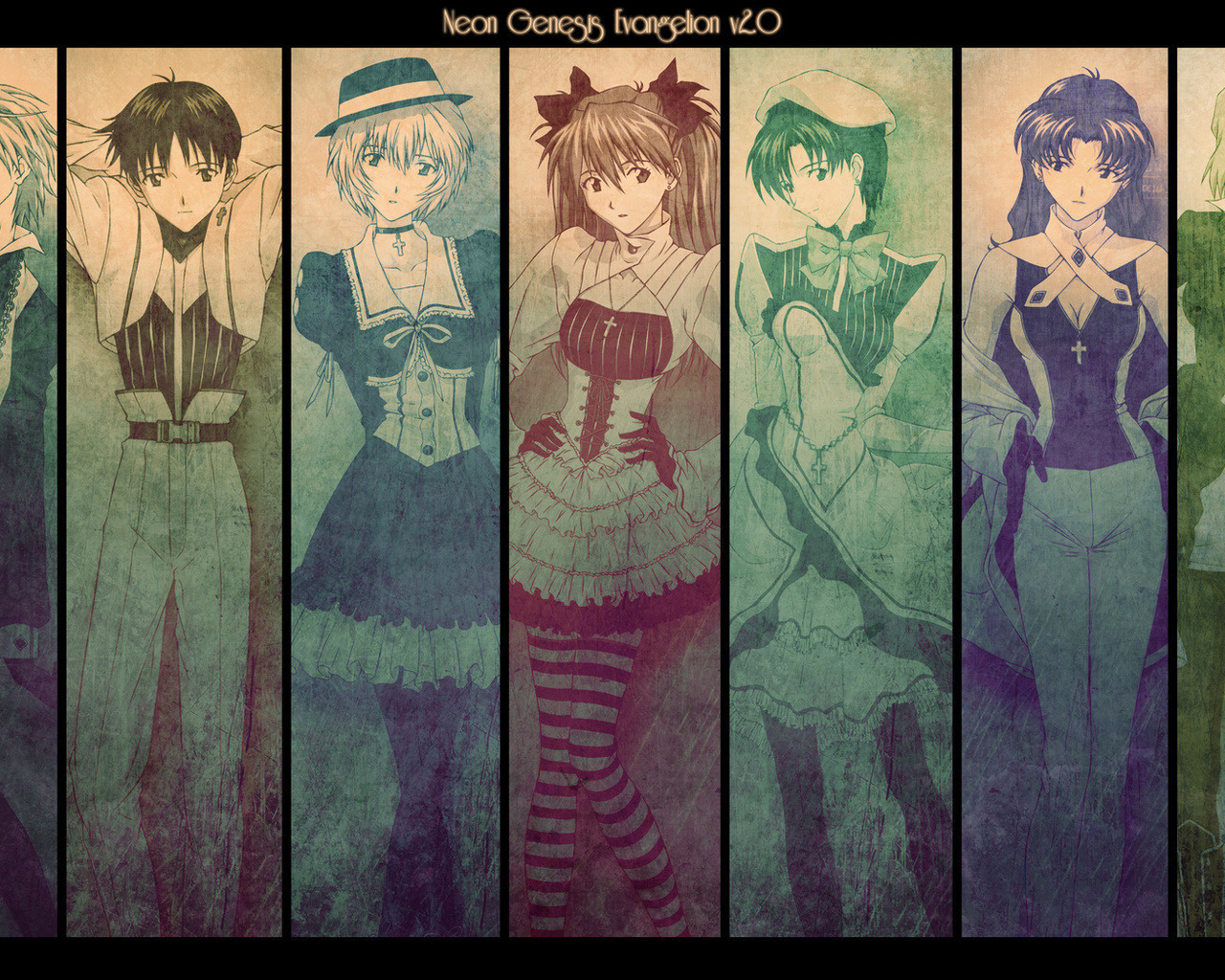 аниме, evangelion, персонажи, asuka langley, rei ayanami