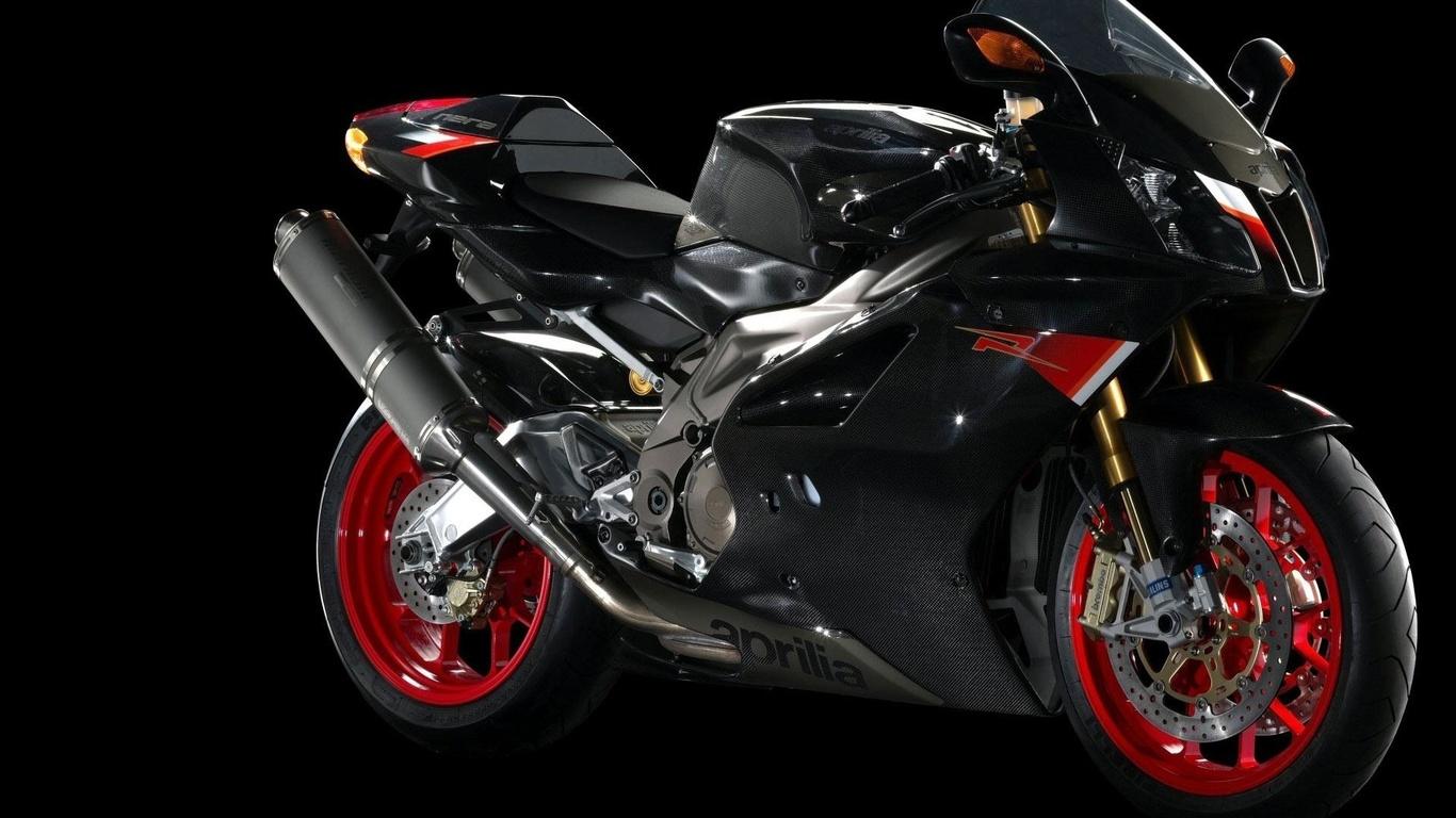 мотоцикл, aprilia, черный, красный