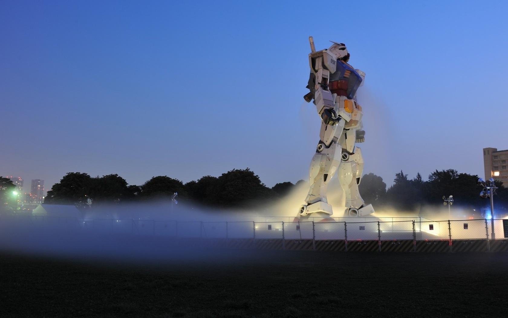 робот, технологии, туман