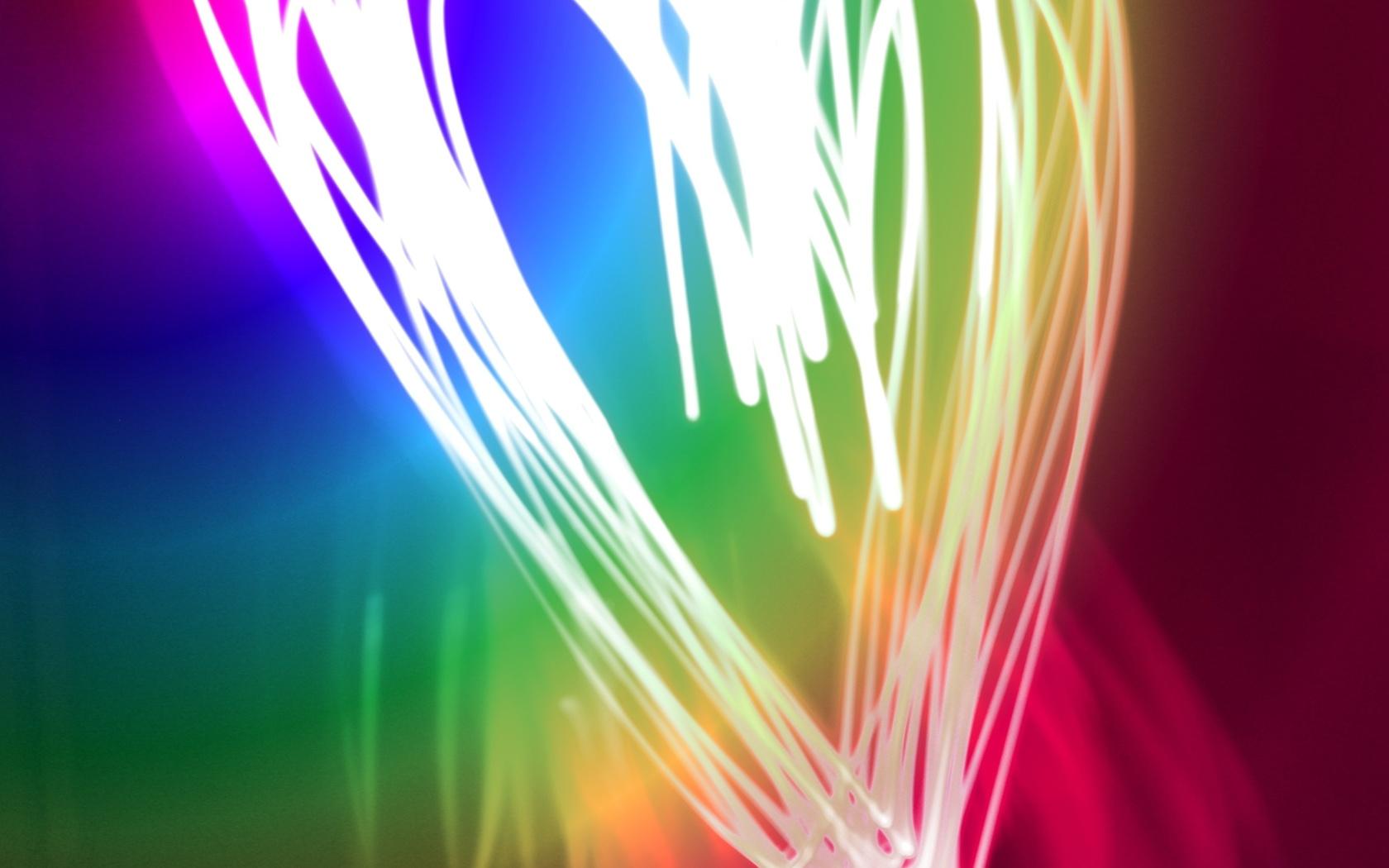 сердце, краски, цвета, неон, свет, heart, colors