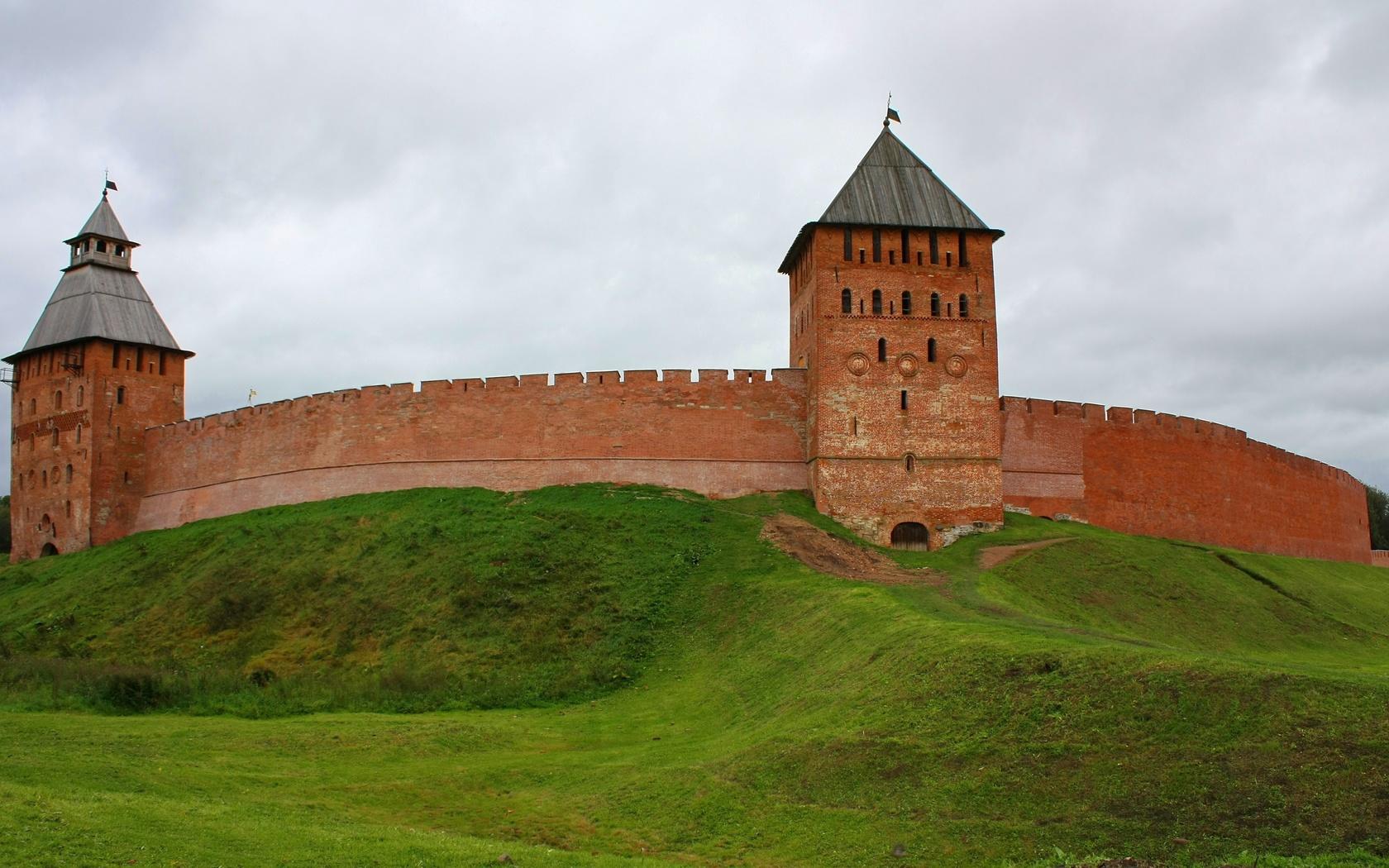 россия, великий новгород, город, древний город, кремль, детинец, башня, обои
