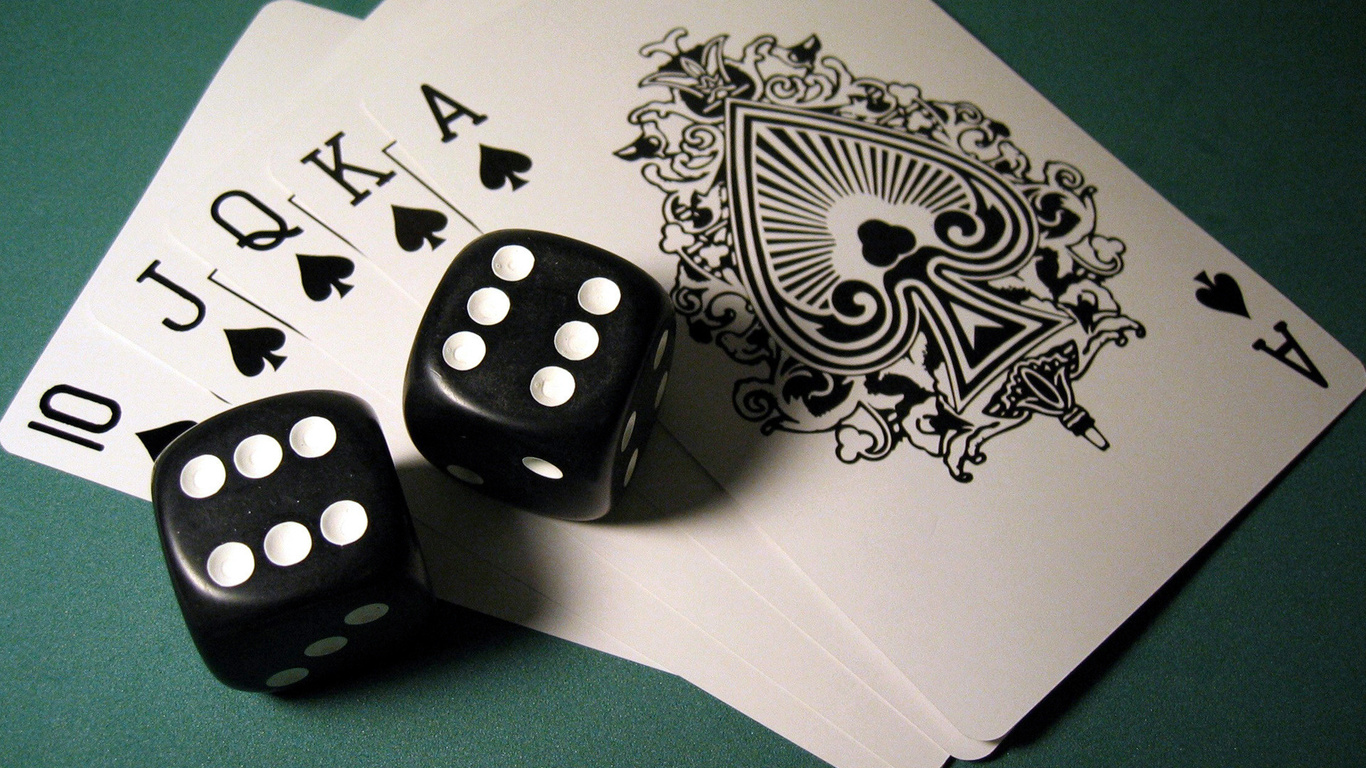 дубль, кости, роял-флэш, карты, комбинация, poker, пики, Покер