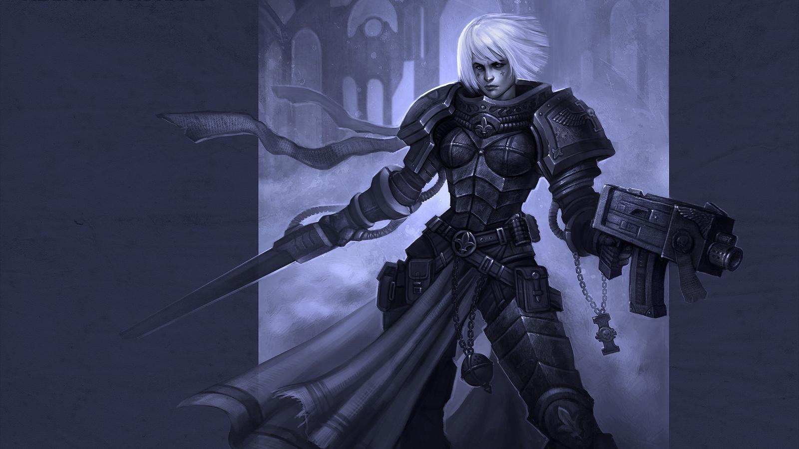 warhammer 40k, сёстры битвы, силовой, adepta sororitas, First-keeper
