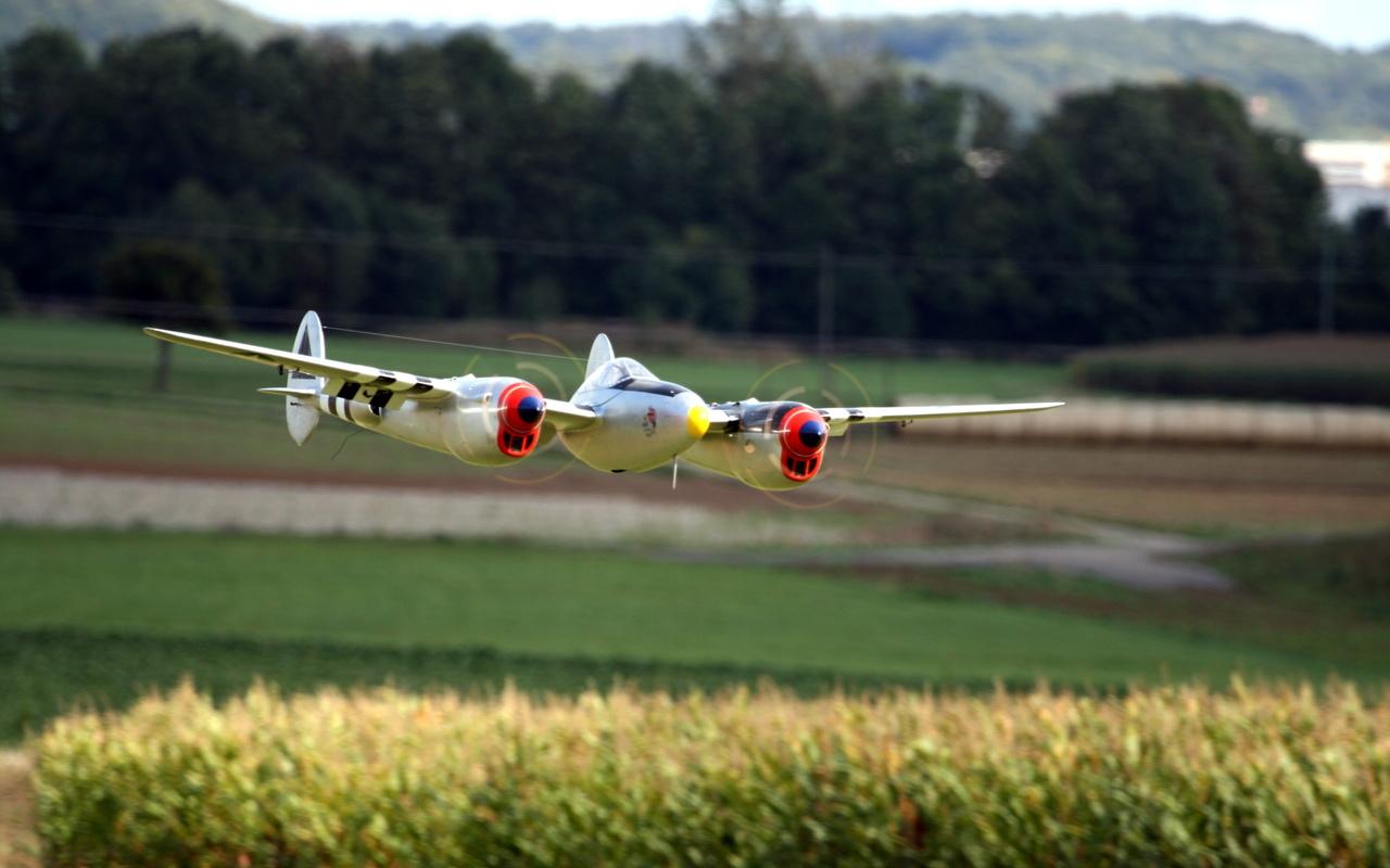 истребитель, модель, самолет, Авиация, p-38, lightning,